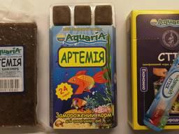 Замороженный корм для рыб Артемия.