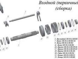 Запчасти КПП Псков к ДЗ-122, 180: шестерни, валы, муфты, кольца