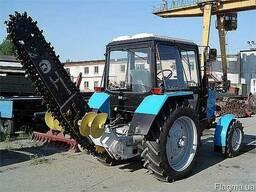 Запчасти на асфальторез Урал-33 траншейный экскаватора бара