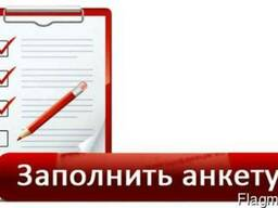 Заполнение Анкеты для визового центра 50 грн. Страховка PZU
