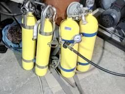 Заправка баллонов акваланг сжатым воздухом. Балон.