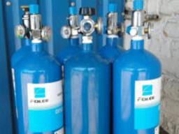 Заправка балонів:кисень, вуглекислота, євросуміш, аргон, ацетилен, азот, гелій