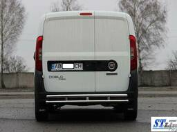 Защита заднего бампера (углы) на широкий модельный ряд авто