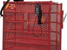 Защитная клетка для безопасной взрывной накачки грузовых шин