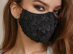Защитная маска трехслойная Lipar многоразовая с карманом. ..