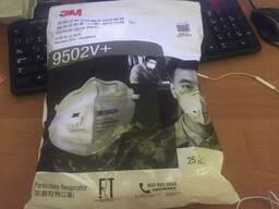 Защитный респиратор 3М 9502V с клапаном FPP2 (в упаковке 25шт)
