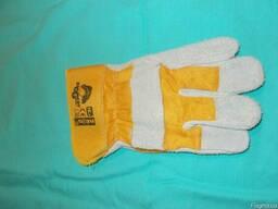 Защитные рукавицы reis упрочнённые кожей