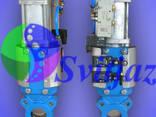 Засувка шиберна з пнемоприводом подвійної дії Ду50 Ру10 - фото 1