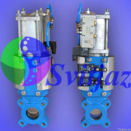 Засувка шиберна з пнемоприводом подвійної дії Ду50 Ру10