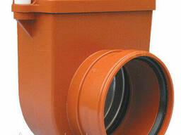 Затвор DN160 с заслонкой из нержавеющей стали и муфтой для труб из синтетического. ..