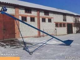 Заводской шнековый погрузчик для зерна 130мм, 7 метров, 380В