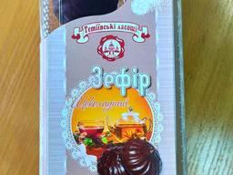 Зефір глазурований шоколадний фасовка 450гр*9шт