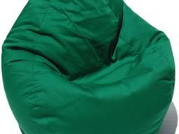 Зеленое кресло мешок, бинбэг, кресло груша