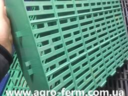 Зеленый щелевой пол пластиковый для свиноферм, птицеферм