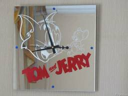 Зеркальные часы Том и Джерри