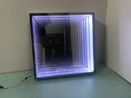 Зеркало с эффектом бесконечности 3D зеркало