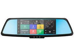 Зеркало видеорегистратор 7 Lesko Car H9 Android GPS + камера заднего вида (2597-7010)