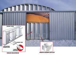 Зернохранилища напольного типа - стальные склады для зерна