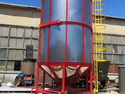 Зерносушилка бункерная циркуляционная СБЦ-32, Зерносушилка 32м³