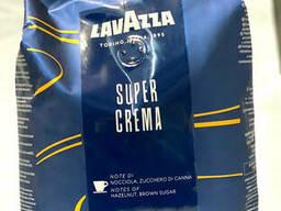 Зерновой кофе Lavazza Super Crema 1 кг в синей пачке. ..