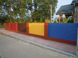 Жалюзи забор металлический