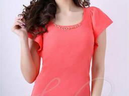 Женская блуза из креп шифона Lipar Корал