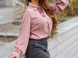 Женская Блуза с ремешком-галстуком Lipar Фрез