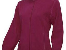 Женская флисовая куртка цвет бордовый в наличие