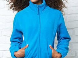 Женская флисовая куртка цвет бирюза в наличие