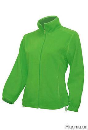 Женская флисовая куртка цвет трава в наличие