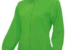 Женская флисовая куртка цвет салатовый в наличие
