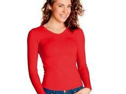 Женская футболка с длинными рукавами на лето