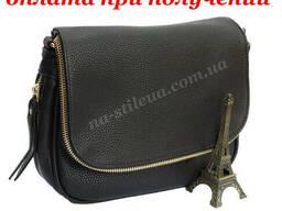 Женский кожаный клатч мини сумка кошелек шкіряна через плечо