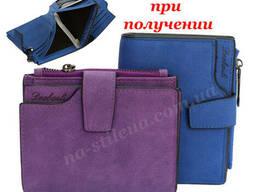 Женский кожаный кошелек клатч сумка гаманець шкіряний. ..