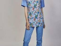 Женский медицинский костюм Фиалка