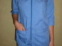 Женский медицинский костюм куртка , брюки, синий