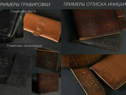 "Кожаный пенал ""Скрутка на 4 кармана"" Винтажная кожа цвет Шоколад"