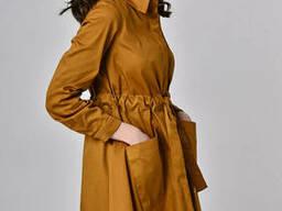 Женское платье-халат с поясом-кулисой Lipar Горчица