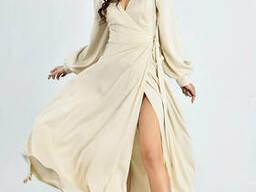 Женское вечернее платье в пол Lipar Бежевое
