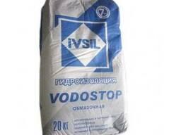 Жесткая цементная гидроизоляция Ивсил Водостоп 20 кг