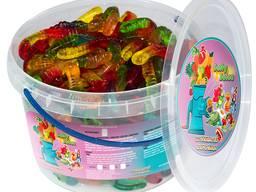 Жувальний мармелад ТМ Jelly Juice Фруктові черв`ячки, 1 кг. Pack (1шт. - 8г)