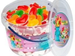 Жувальний мармелад ТМ Jelly Juice Кохання в серцях, 1 кг. Pack (1шт. - 5г)