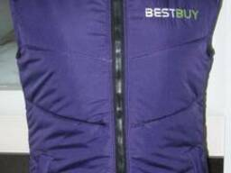 Жилет стеганый фиолетовый, утепленный с вашим лого