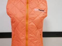 Жилет утепленный для продавцов жилетка оранжевая