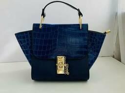 Жіноча сумка з тисненням Magic Valeri, Синій