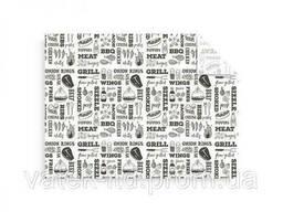 Жиростойкая бумага для гриля (300 x 400мм) черно-белая из. ..
