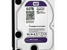 "Жесткий диск 3.5"" WD60PURX, 6 ТБ, SATA 6 Гб/с, IntelliPower, кэш 64 МБ."