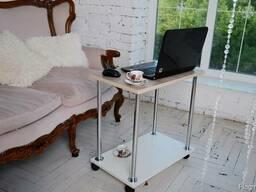 Столик для ноутбука Тавол Loco Ясень Хром