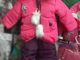 Зимний костюм комбинезон на синтепоне для девочки 92-110р