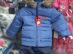 Зимний Теплый комбинезон для мальчика 92-110